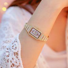 BS珍珠系列新款热销手表厂家直销外贸高档链表定制满钻女表新款热