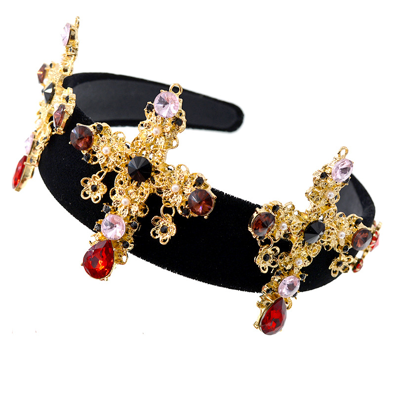 Alloy Vintage Geometric Hair accessories  (black) NHNT0632-black