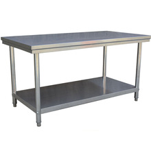 Stainless steel workbench kitchen chopping board console custom thick 304 stainless steel double-layer workbench