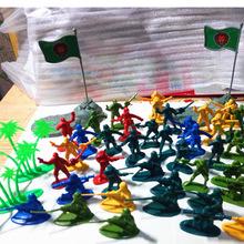 热卖二战小兵人玩具军事士兵兵团 战争模型武器军人打仗小人套装