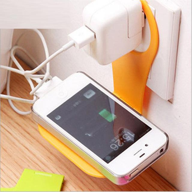 创意可折叠手机充电支架 便携手机充电伴侣 塑料手机充电支架