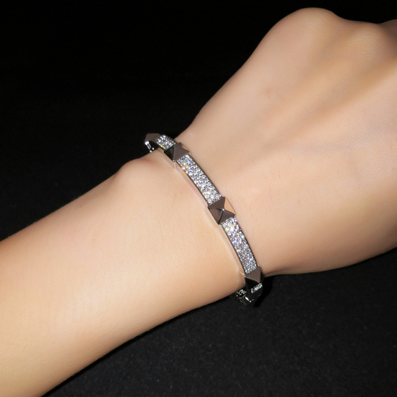 Bracelet de mode gomtrique en cuivre alliage 18K Fine Jewelry NHAS038518Kalliage