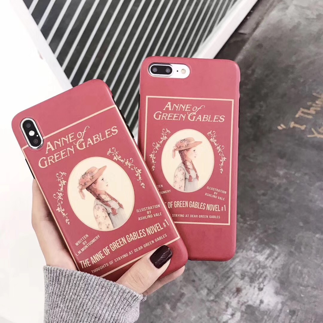 Vintage illustration girl Anne for iPhone678 protective case phone case Apple XSMAX all-inclusive soft shell