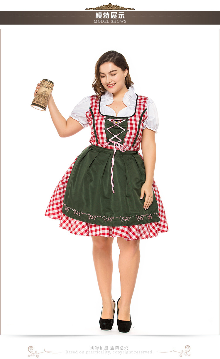 Halloween adult cosplay costume Bavarian beer dress dress NHFE153909