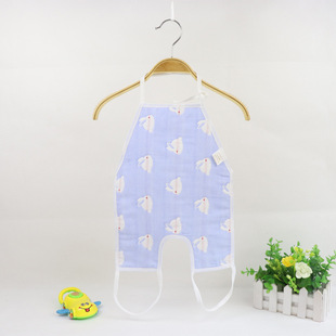 Autumn and winter baby gauze dudou with foot straps cotton gauze baby with leg dudou newborn care dudou
