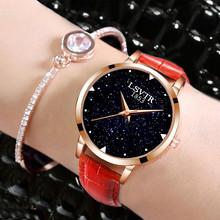 Đồng hồ nữ thời trang, dây da, màu sắc sang trọng, phong cách Âu