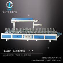 青島線條包覆機廠家 護墻板覆膜機多少錢 木工機械集成墻板包覆機