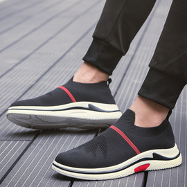 N wild sports casual new men's net shoes flying woven tide breathable shoes ulzzang socks shoes