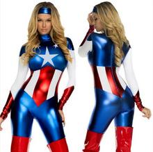 新款万圣节服装超人美国队长 cosplay服派对表演服ds演出服