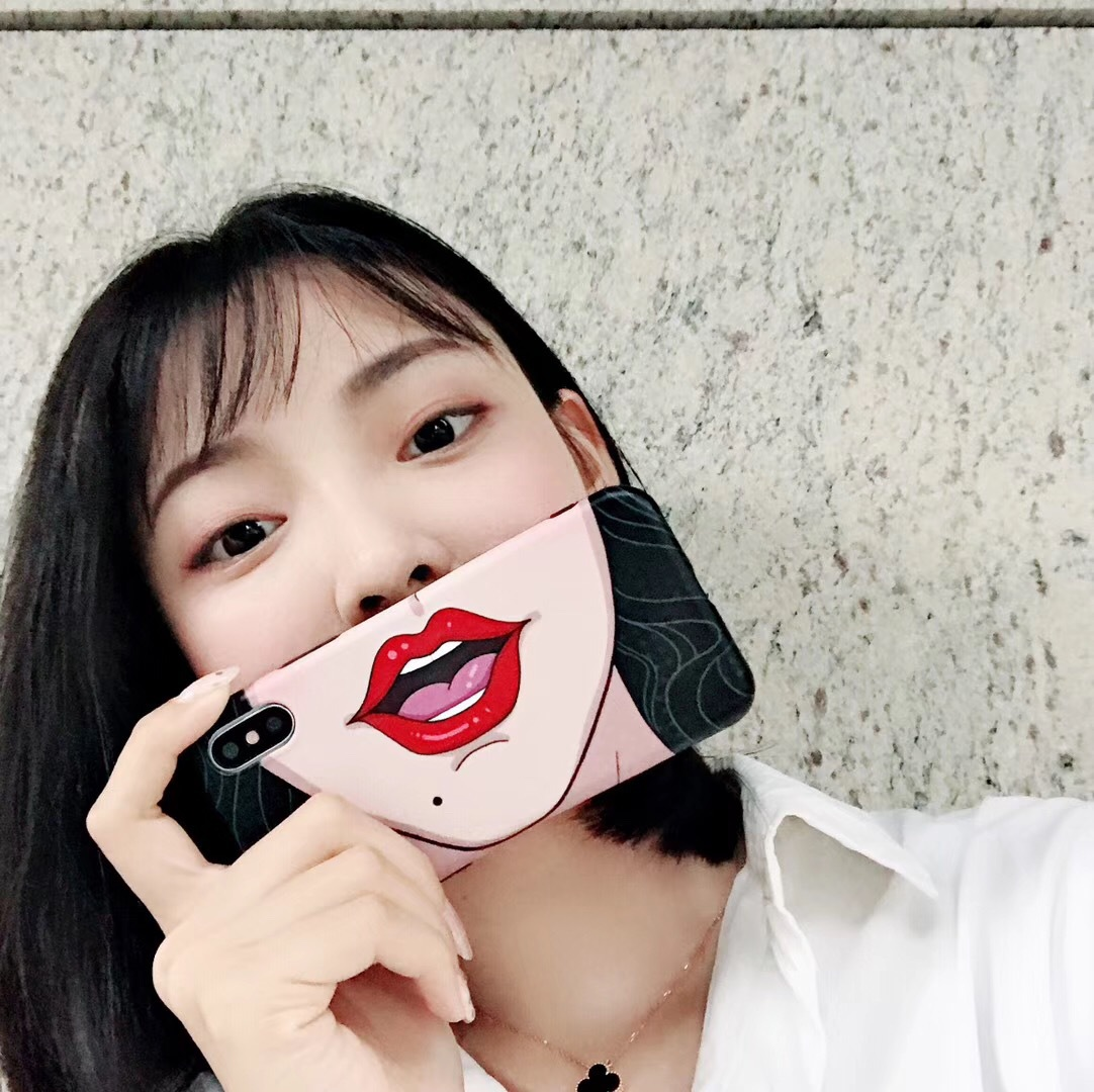 Net red with the self-timer face expression shell iPhoneXS/Max/XR mobile phone shell Apple 7plus/8 female models 6s