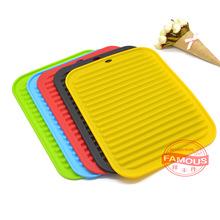 方形硅胶防滑杯垫隔热垫 餐具沥水锅垫 锅碗盘餐垫