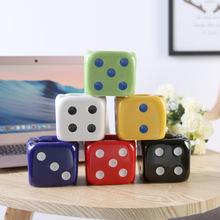 陶瓷六色骰子创意欧式烟缸酒店家用餐桌工艺品摆件韩式迷你烟灰缸