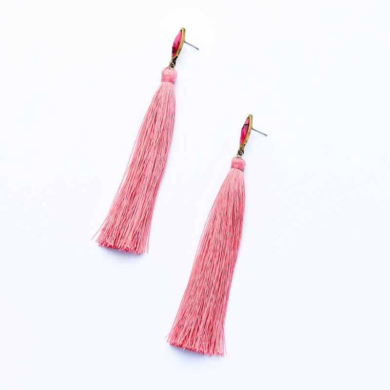 Alloy Fashion Tassel earring  (Photo Color) NHQD5858-Photo-Color