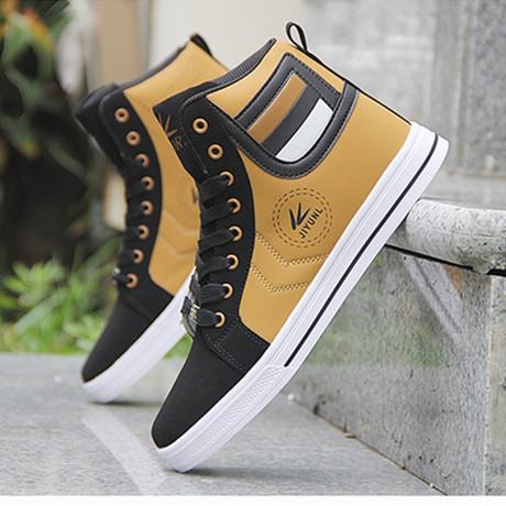 Giày thể thao nam mới giản dị Giày thể thao nam giày cao để giúp mùa thu đông thời trang kinh doanh ngoại thương Anh xu hướng Giày thể thao
