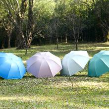 5071  creative color plastic fish series umbrella children's sunscreen UV tri-fold folding umbrella