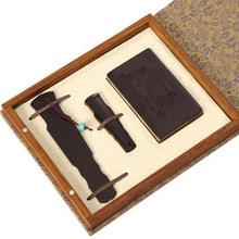 琴式紅木商務套裝禮品創意中國風古典個性紅木工藝品送國外客戶