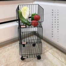 大号带轮储物整理架 卧室架杂物架金属层架 厨房移动收纳架置物架