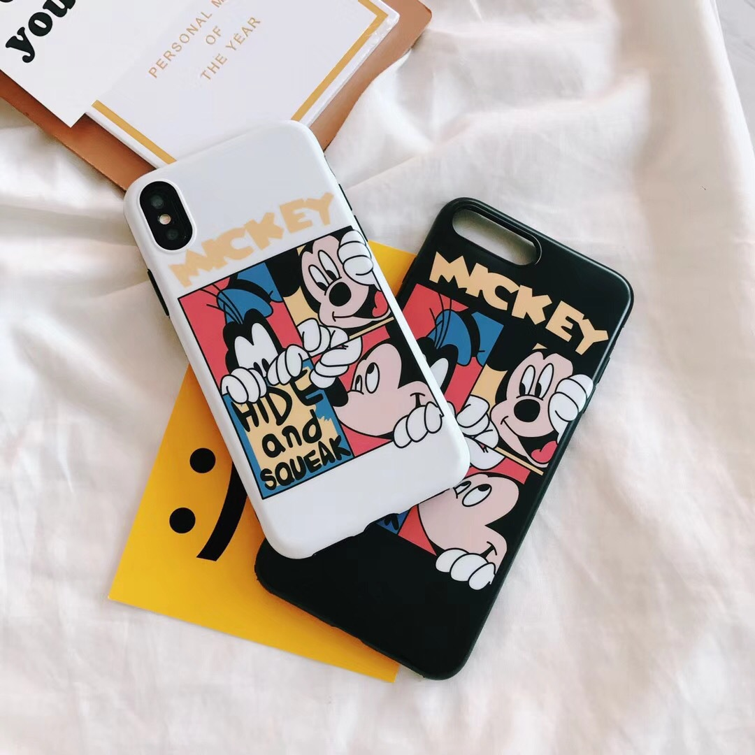 New Mickey cartoon mobile phone case iphone7plus cute silicone case apple 6s/7p couple 8X protective cover