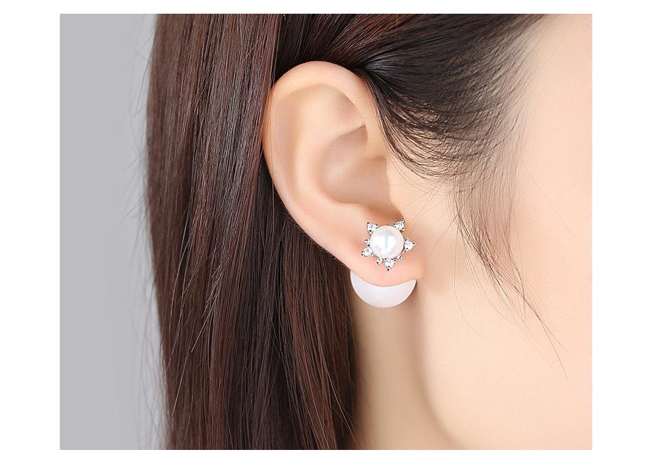 Alloy Korea Geometric earring  (White alloy) NHTM0311-White-alloy-plated