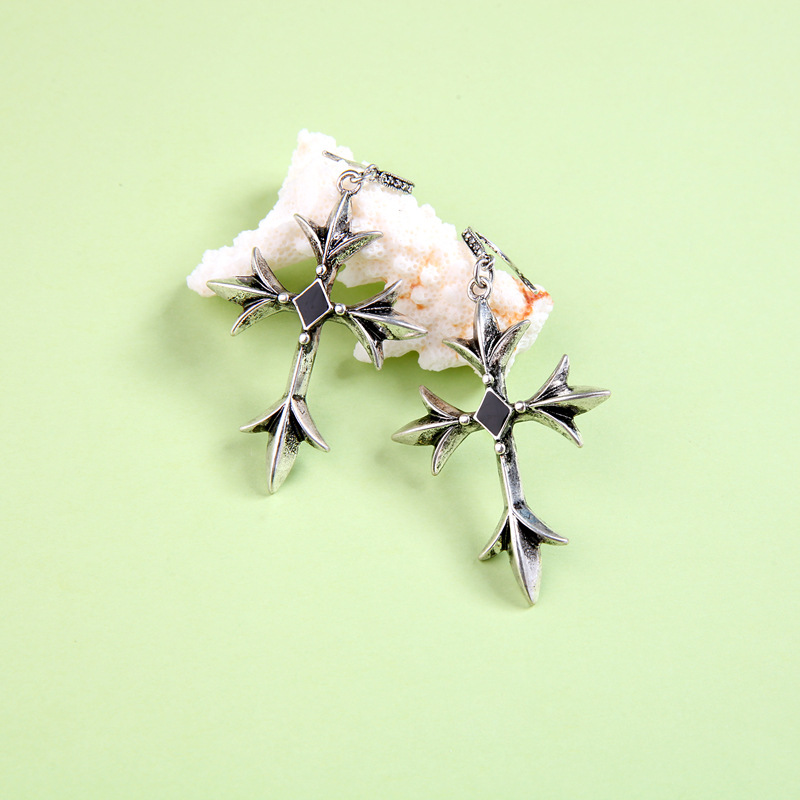 Alloy Fashion Cross earring(Photo Color) NHQD5094-Photo Color