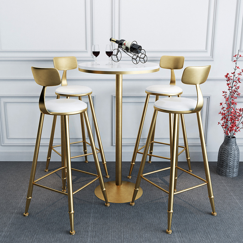 Awe Inspiring Nordic Wrought Iron Gold Bar Stool Creative Dining Table And Dailytribune Chair Design For Home Dailytribuneorg