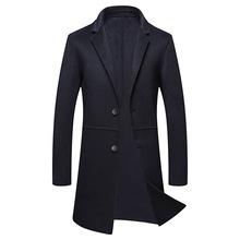 反季秋冬季男士中長款非羊絨風衣外套青年羊毛雙面尼毛呢大衣