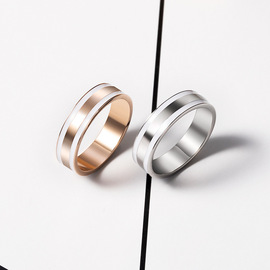 New ring, European and American couples, men and women, ring, white bowl, silver, Valentine's Day ring
