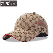 韓版春夏棒球帽男士時尚運動格子鴨舌帽女士旅游帆布遮陽防曬帽子