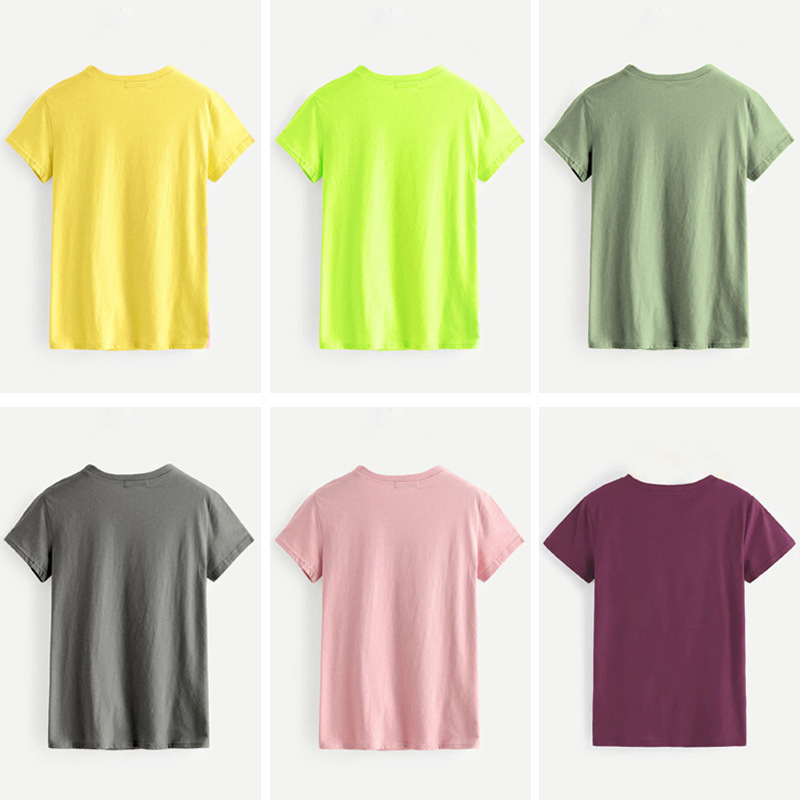 hot Slim Comfortable Casual Large Size Short Sleeve Women's T-shirt NSSN891