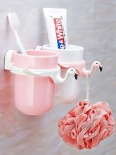 创意儿童卡通牙刷架壁挂牙具架可爱刷牙杯子置物架漱口杯?#35789;?#22871;装
