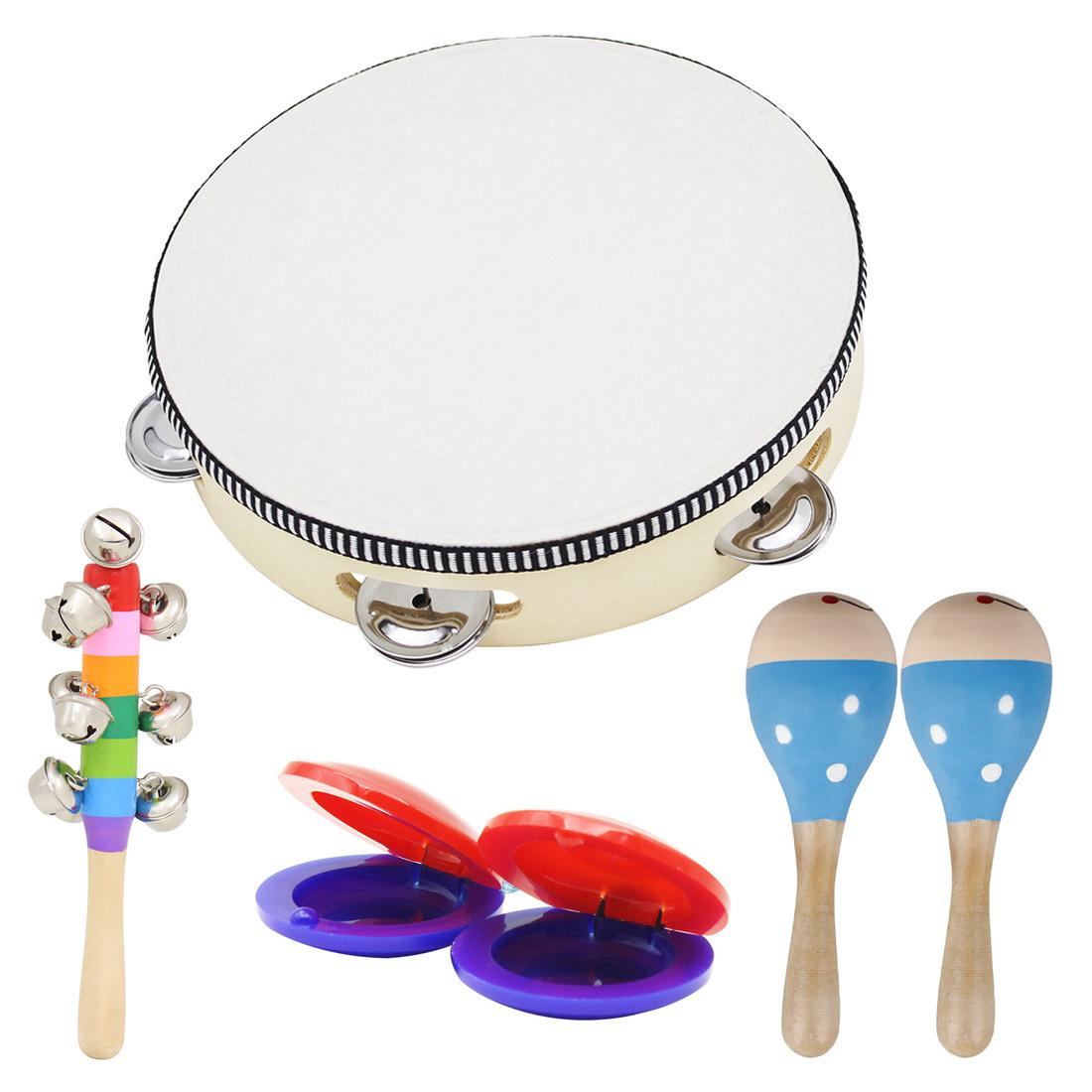 Заумный твой муж музыкальные инструменты костюм шесть наборы ребенок обучения в раннем возрасте музыка музыкальные инструменты игрушка сочетание 6 наборы детский сад учить инструмент