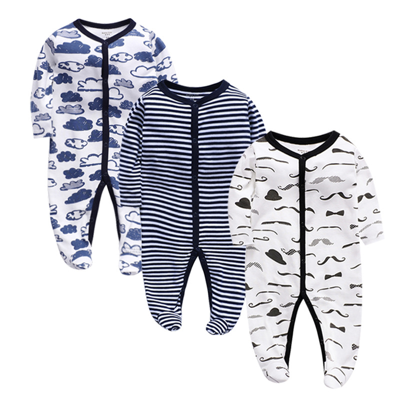 Spring And Autumn Baby Jumpsuit Cotton Long-Sleeved Jumpsuit Children's Clothing