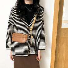 小眾設計感繩結編織肩帶包酷帥弧形方包棕色PU包單肩斜跨胸包女包