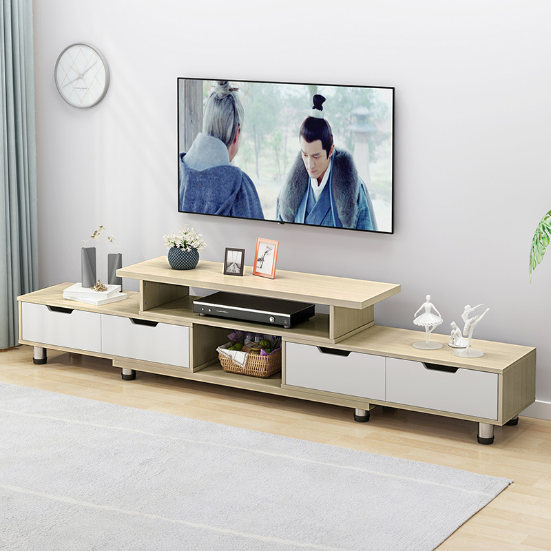 Essieny TV Cabinet Modern Minimalist Living Room TV Cabinet Coffee Table Combination Small Apartment Floor Cabinet Set TV Cabinet