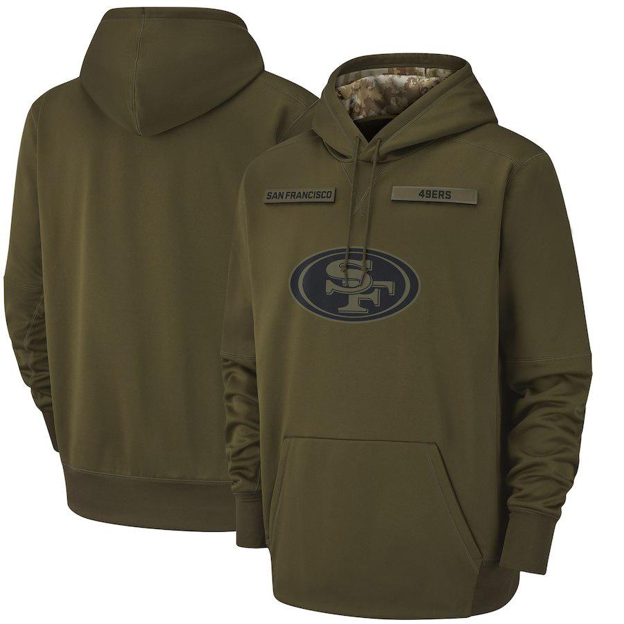 亚马逊外贸NFL军绿款致敬版球服 橄榄球宽松休闲男士套头连帽卫衣