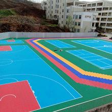 厂家现货悬浮地板 拼装地板运动地板篮球场防滑耐磨塑料地板