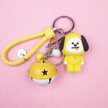 韩国周边公仔钥匙扣 滴胶玩偶 ?#20449;?#27454;卡通滴胶钥匙链圈包包挂