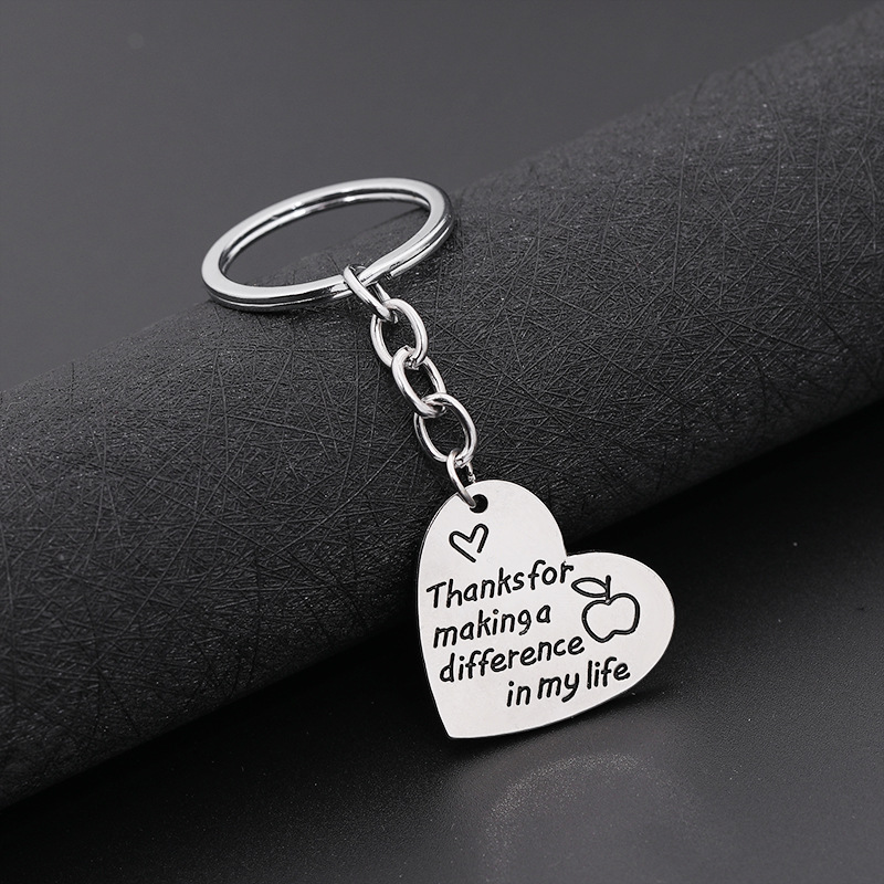 Foreign trade new keychain European and American love lettering love in inspire teach keychain small pendant NHMO220432