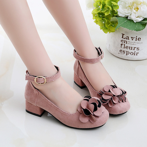 Girls princess host singers performance shoes princess shoes children high heeled shoes single shoes student performance shoe trend