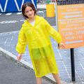 非一次性雨衣EVA雨衣儿童雨披半透明徒步游乐园厂家直销批发定制