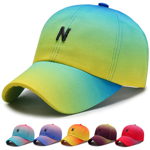Hat female spring and autumn baseball cap casual all-match sun hat outdoor sun protection sun hat male gradient color hat cap