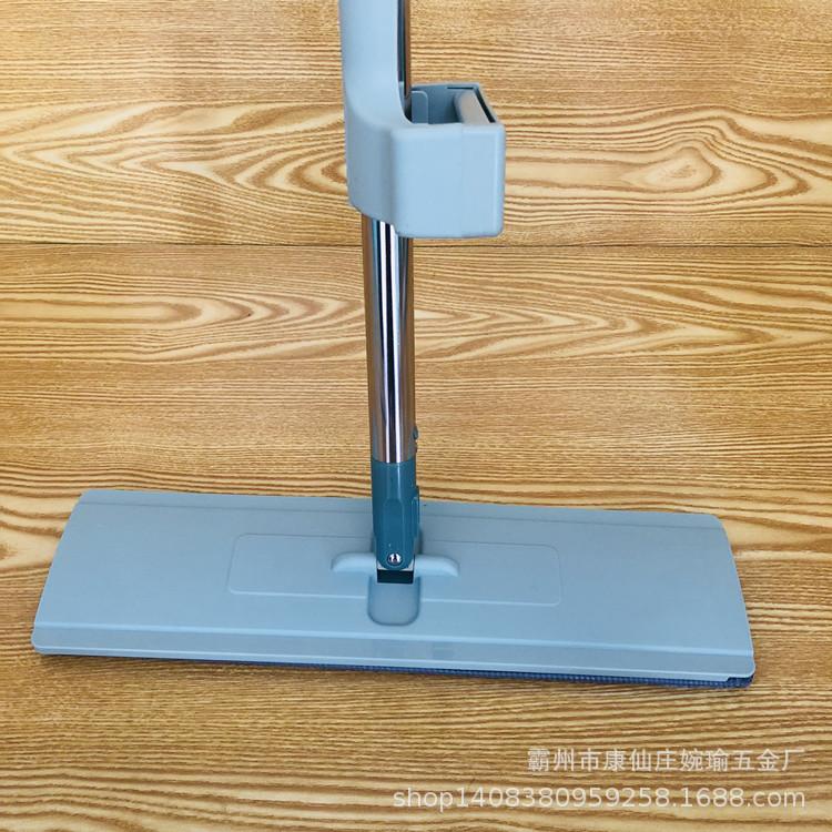 新款免手洗平板拖把加粗桿加大面板懶人拖把自擠水免洗平拖