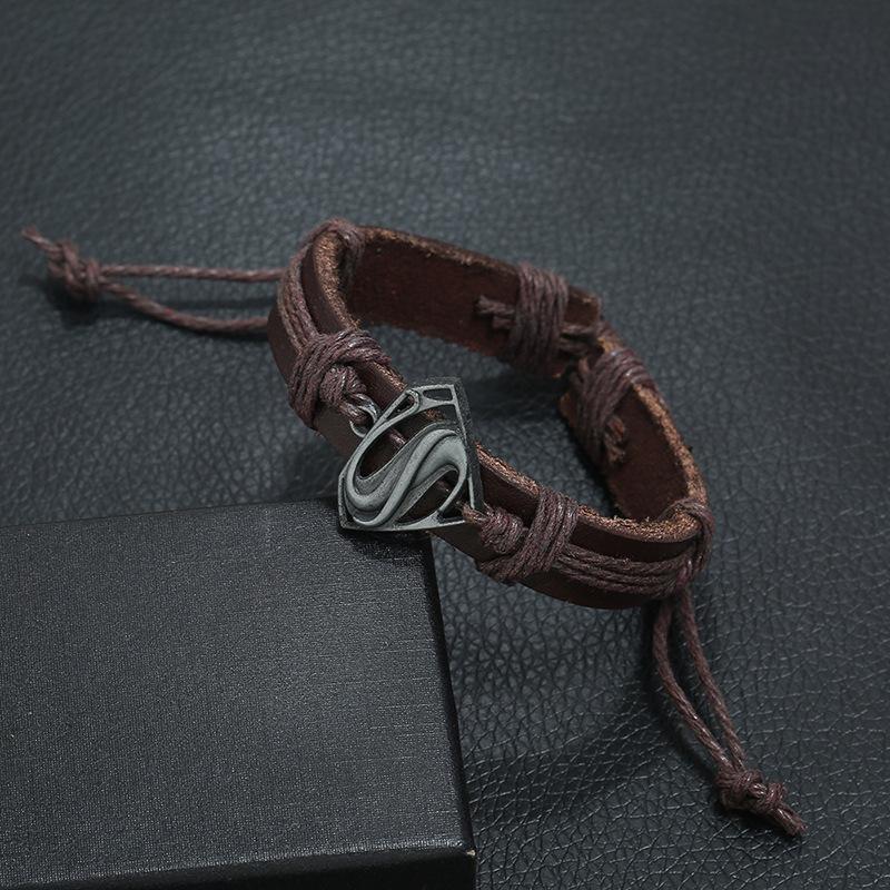 New retro woven leather bracelet simple men and women leather bracelet jewelry NHPK184596