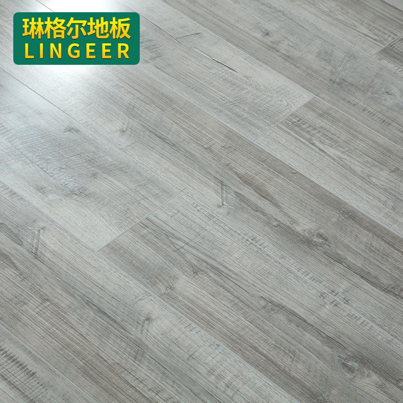 厂家直销亮面系列地热地暖强化复合地板 12mm环保复合木地板定制