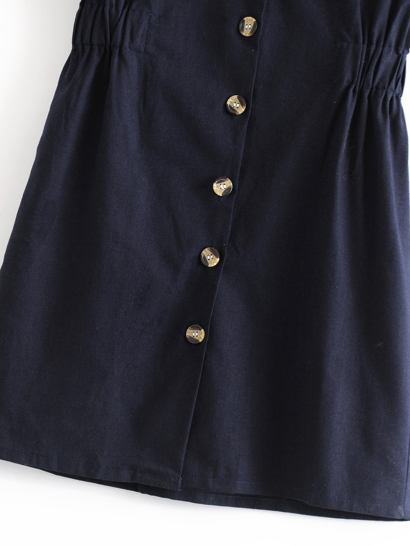 Polyester Fashionskirt(Navy blue-S) NHDS0696-Navy-blue-S