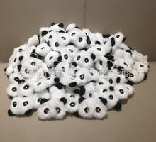 新款超萌DIY熊猫毛绒发饰玩偶公仔 可爱的小熊猫礼品玩偶公仔4CM