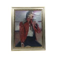工厂直销3d印刷技术迈克杰克逊三变图三维立体画3d变图画