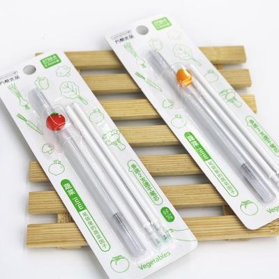 万帮3759吸卡装万帮优品迷你蔬菜速干中性笔-1+2支/ 卡(0.5mm)