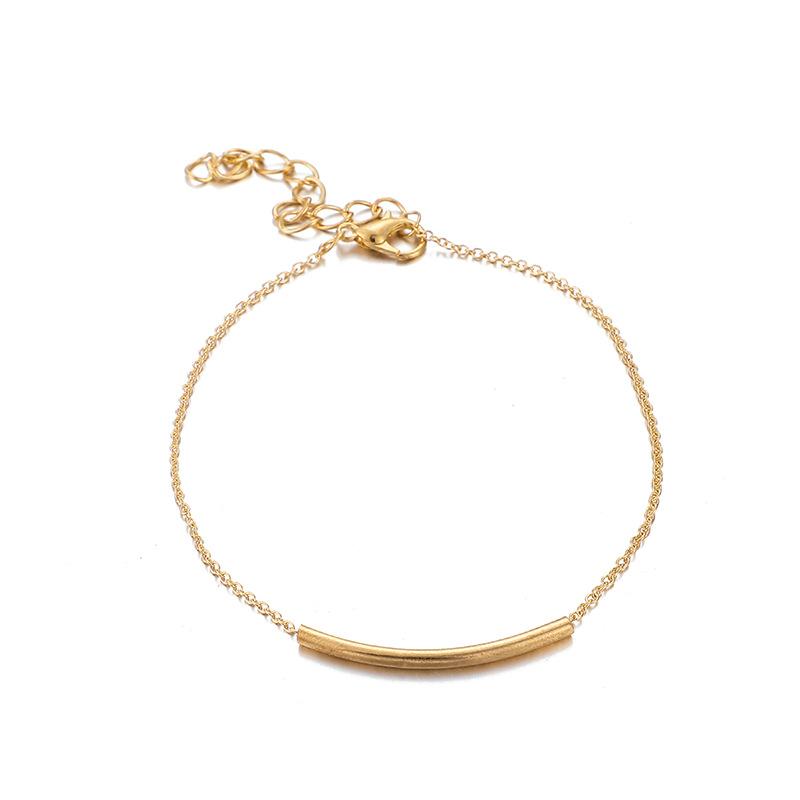 Fashion Alloy Artificial Gemstone Moon Metal Disc Bracelet Set NHGY152567