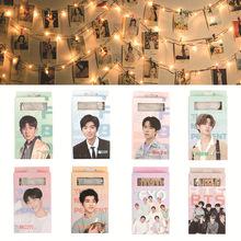明星周边易烊千玺BTS蔡徐坤lomo卡exo纸质明信片一套50张送炫彩灯